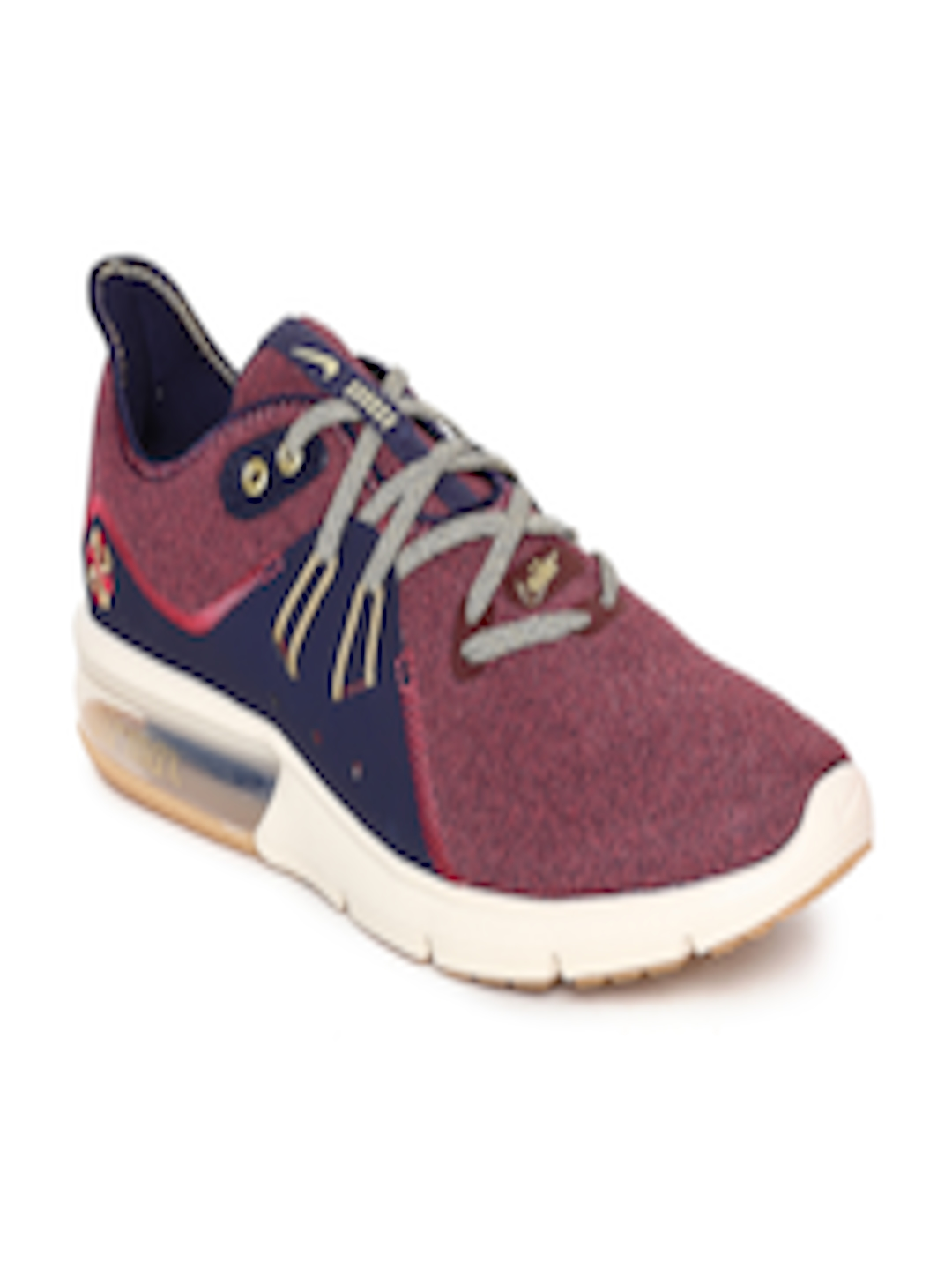best sneakers 16a58 f59b7 Buy Nike Men Maroon & Navy Air Max Sequent 3 PRM VST Running Shoes - -  Footwear for Men