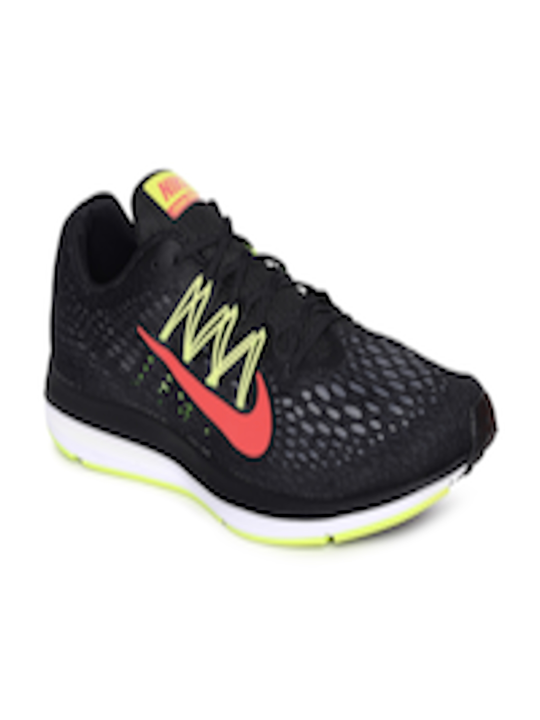 001f661f Buy Nike Men Black Air Zoom Winflo 5 Running Shoes - Sports Shoes for Men  6676997 | Myntra