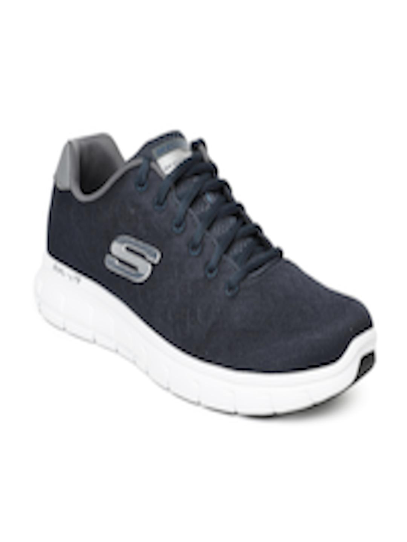 8b1e863d3bd8 Buy Skechers Men Navy Blue Vim Evasive Action II Walking Shoes - Sports  Shoes for Men 6689238