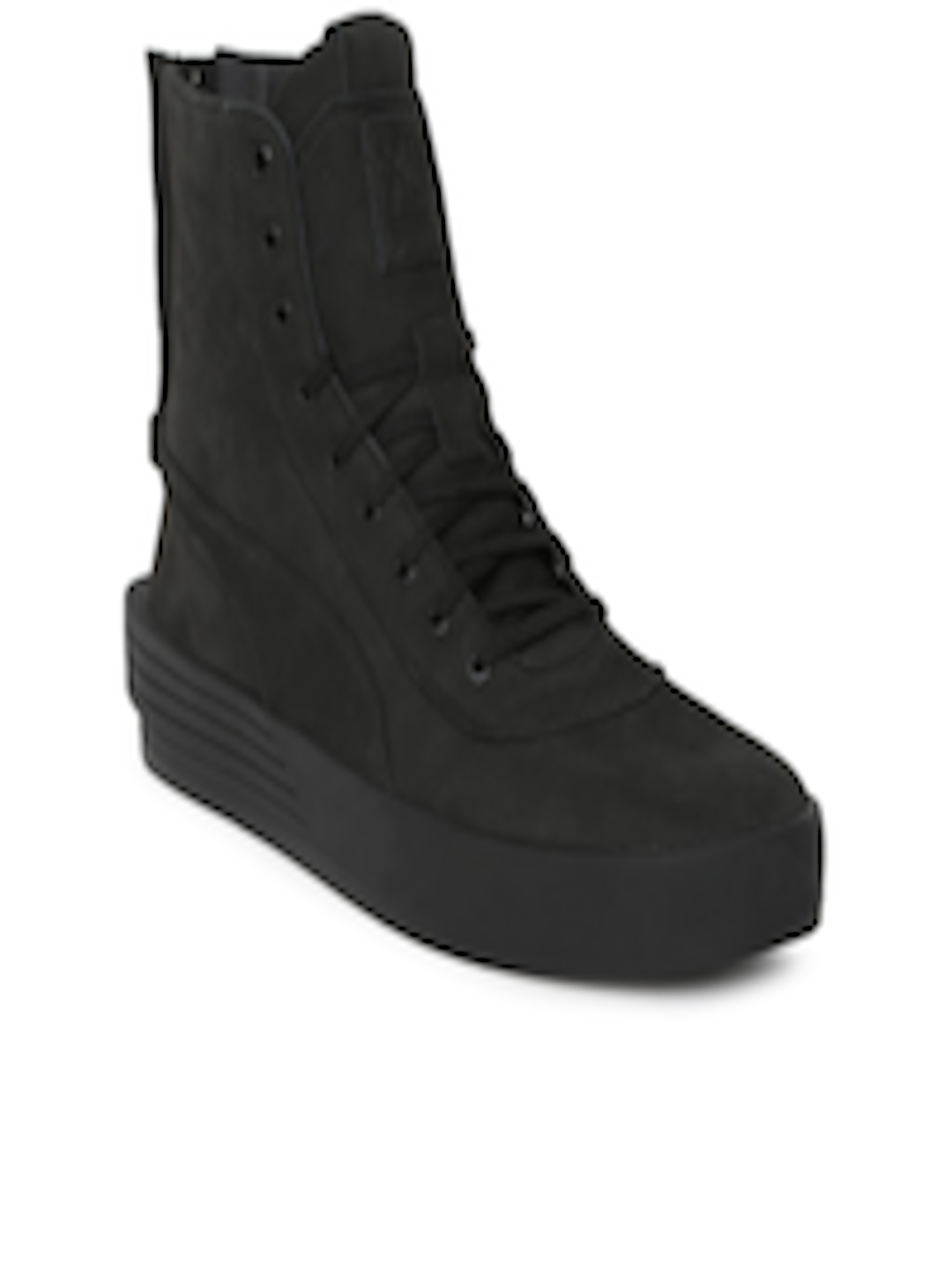 eb63b23b114 Buy Puma Unisex Black PUMA XO PARALLEL Leather High Top Sneakers - Casual  Shoes for Unisex 6697461