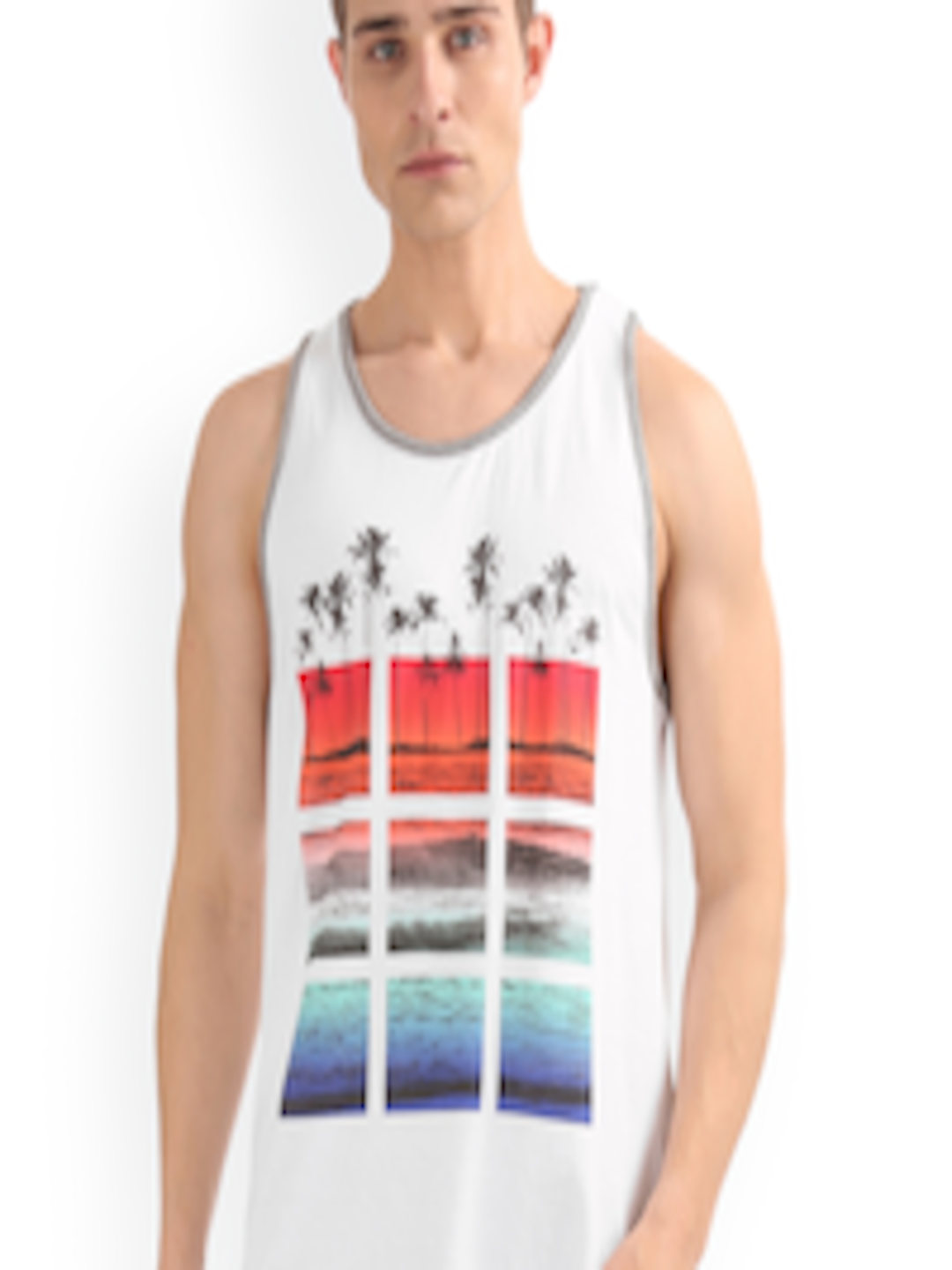 784a5675 Buy Aeropostale Men White Printed Round Neck T Shirt - Tshirts for ...