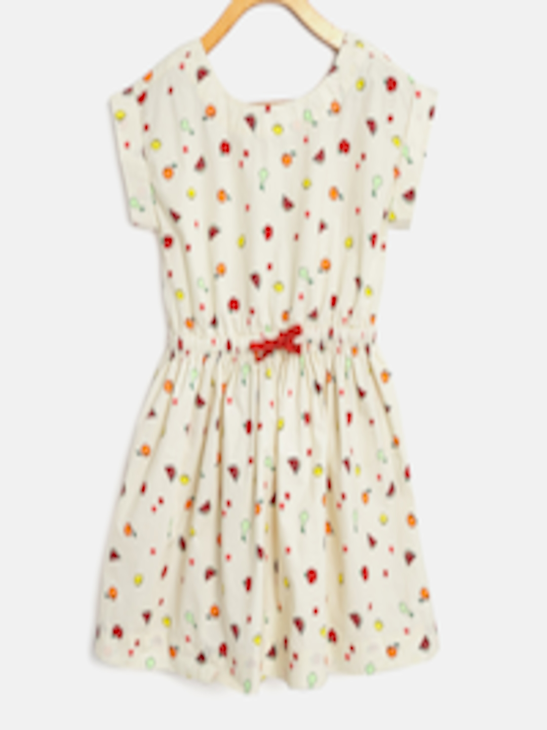 Buy United Colors Of Benetton Girls Cream Coloured Amp Red