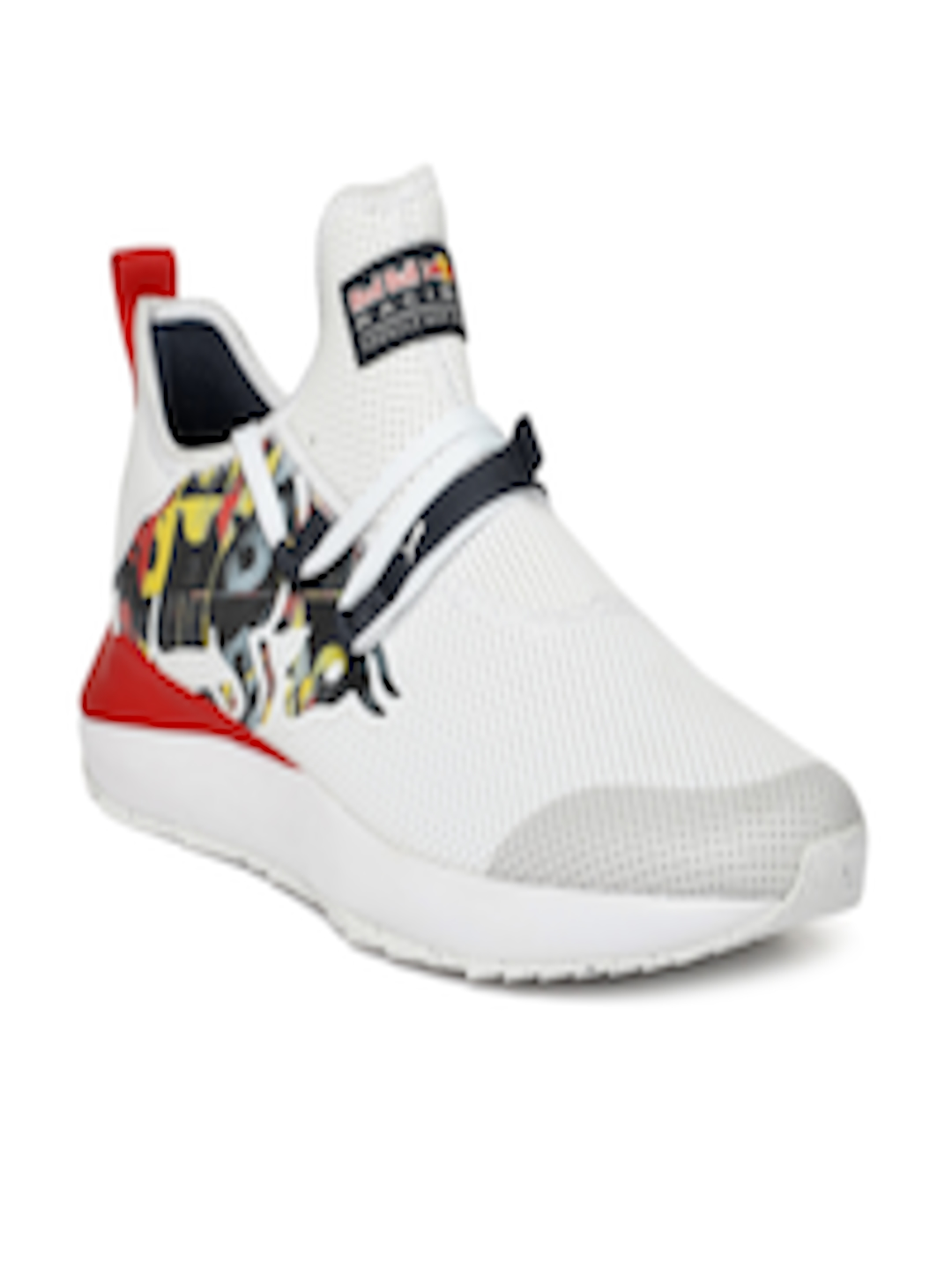 Buy Puma Men White   Red Printed RBR Evo Cat II Bulls Sneakers ... 49b401ddb