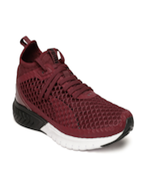 more photos 96428 5bd67 Buy Puma Men Maroon IGNITE Dual NETFIT Running Shoes - - Footwear for Men