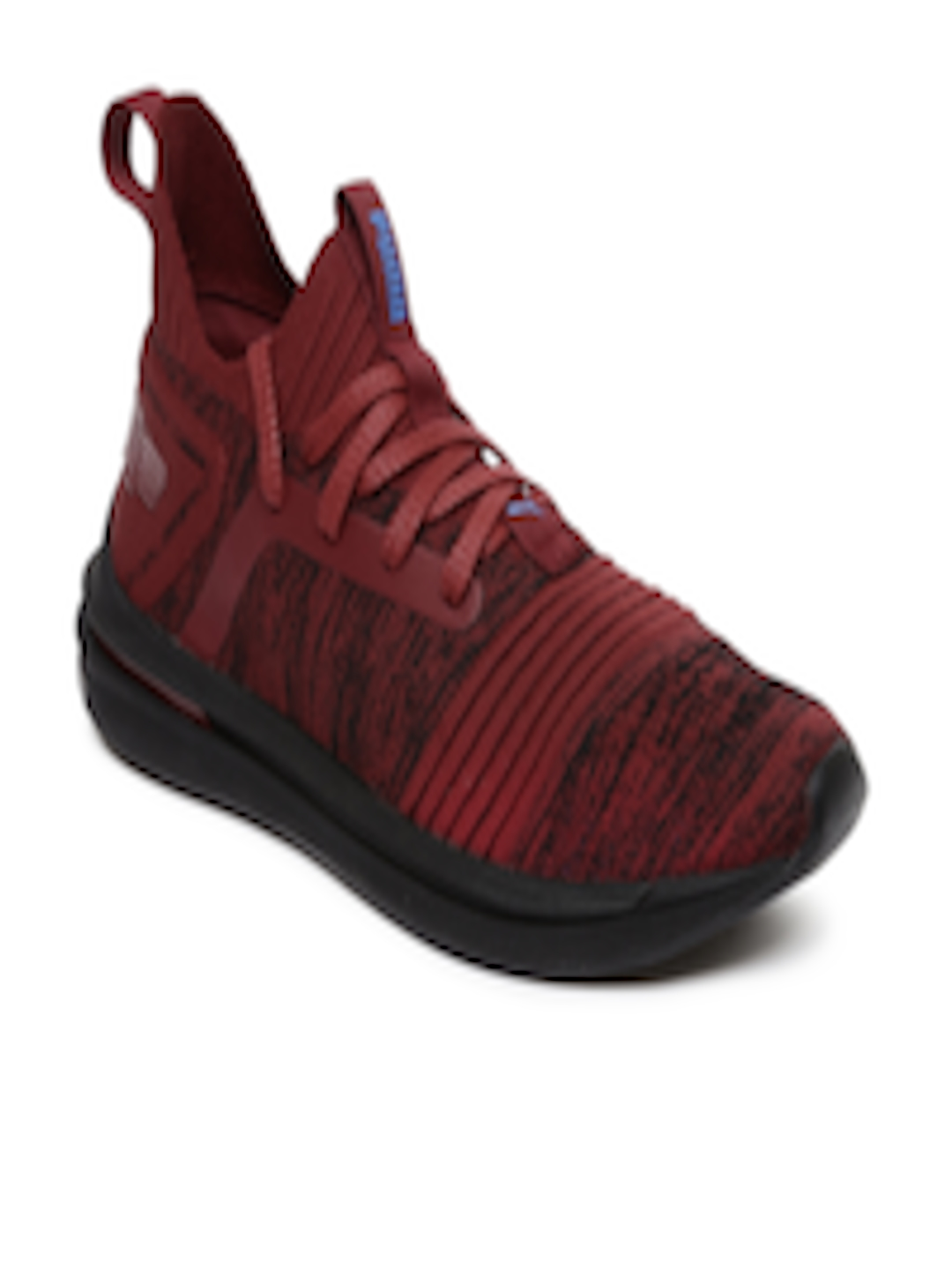 reputable site 0e74b 32448 Buy Puma Men Maroon & Black IGNITE Limitless SR EvoKNIT Running Shoes - -  Footwear for Men