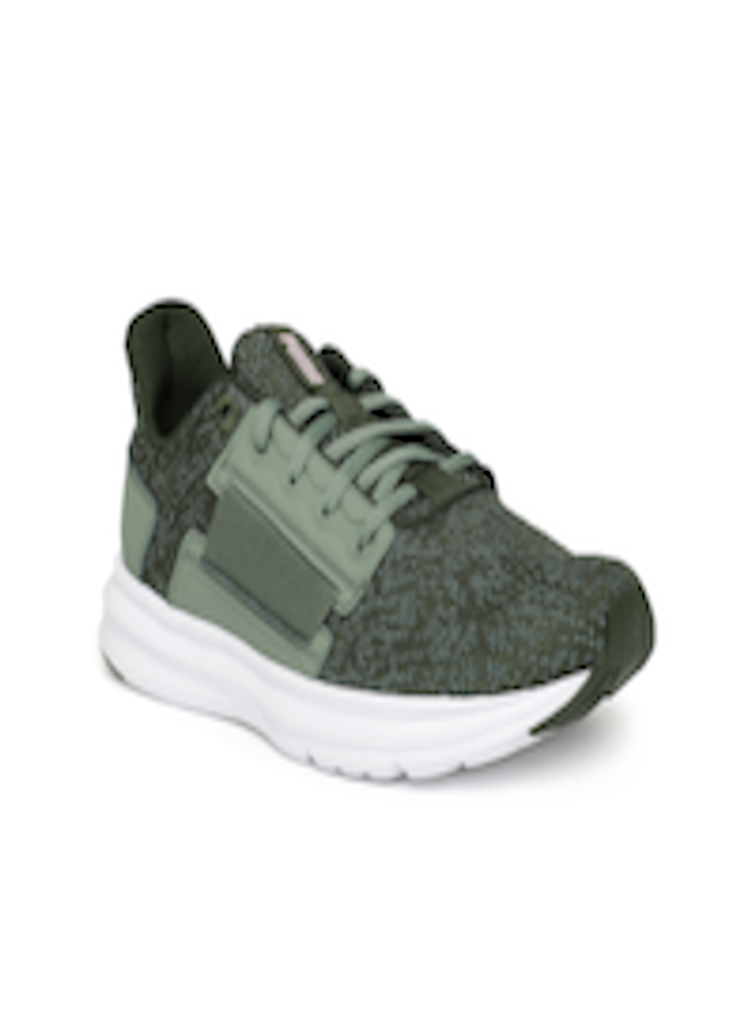 6a5c93e817873a Buy Puma Women Olive Green Enzo Street Knit Interest Training Shoes -  Sports Shoes for Women 6816100