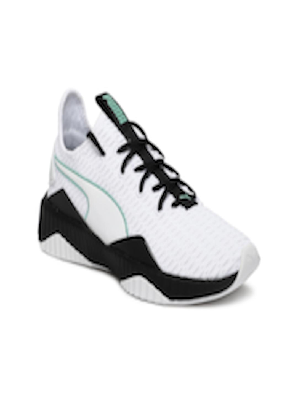 Girls White Puma Defy Junior  Casual Training  Shoes