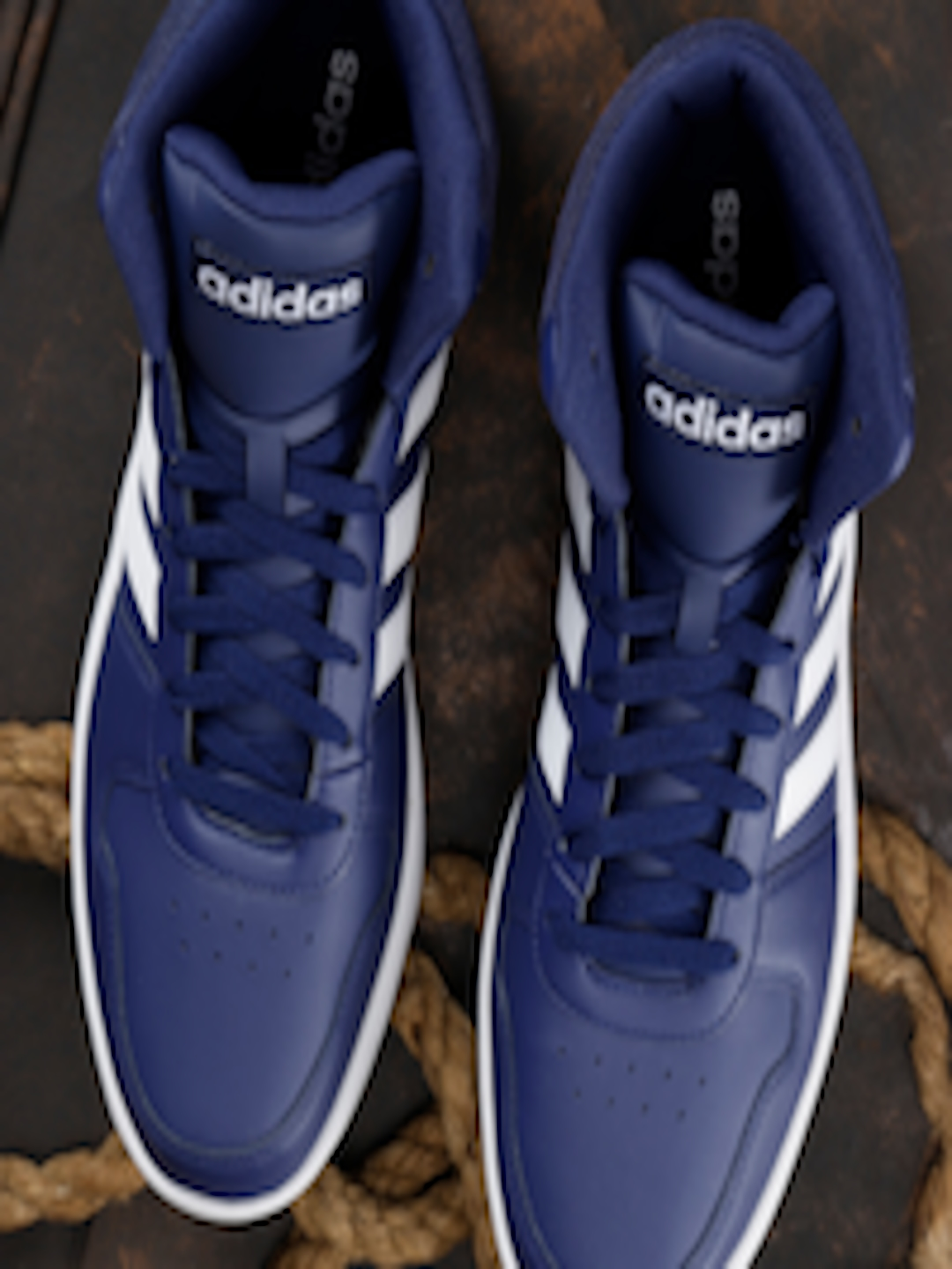 8cefaaa8f06e89 Buy ADIDAS Men Navy Blue Hoops 2.0 Mid Basketball Shoes - Sports Shoes for  Men 6841772