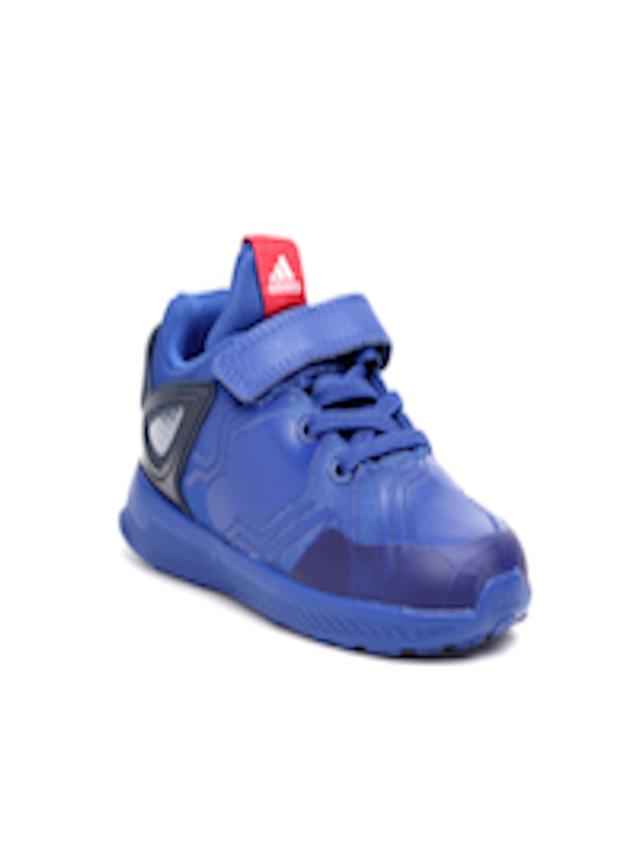2cb02a18557ac3 Buy Adidas Boys Blue RapidaRun Spider Man EL I Printed Running Shoes -  Sports Shoes for Boys 6841866