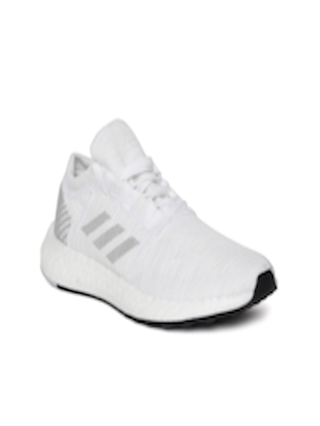 45d8a63304220 Buy ADIDAS Women White   Grey Pureboost Go Woven Design Running Shoes - Sports  Shoes for Women 6841904
