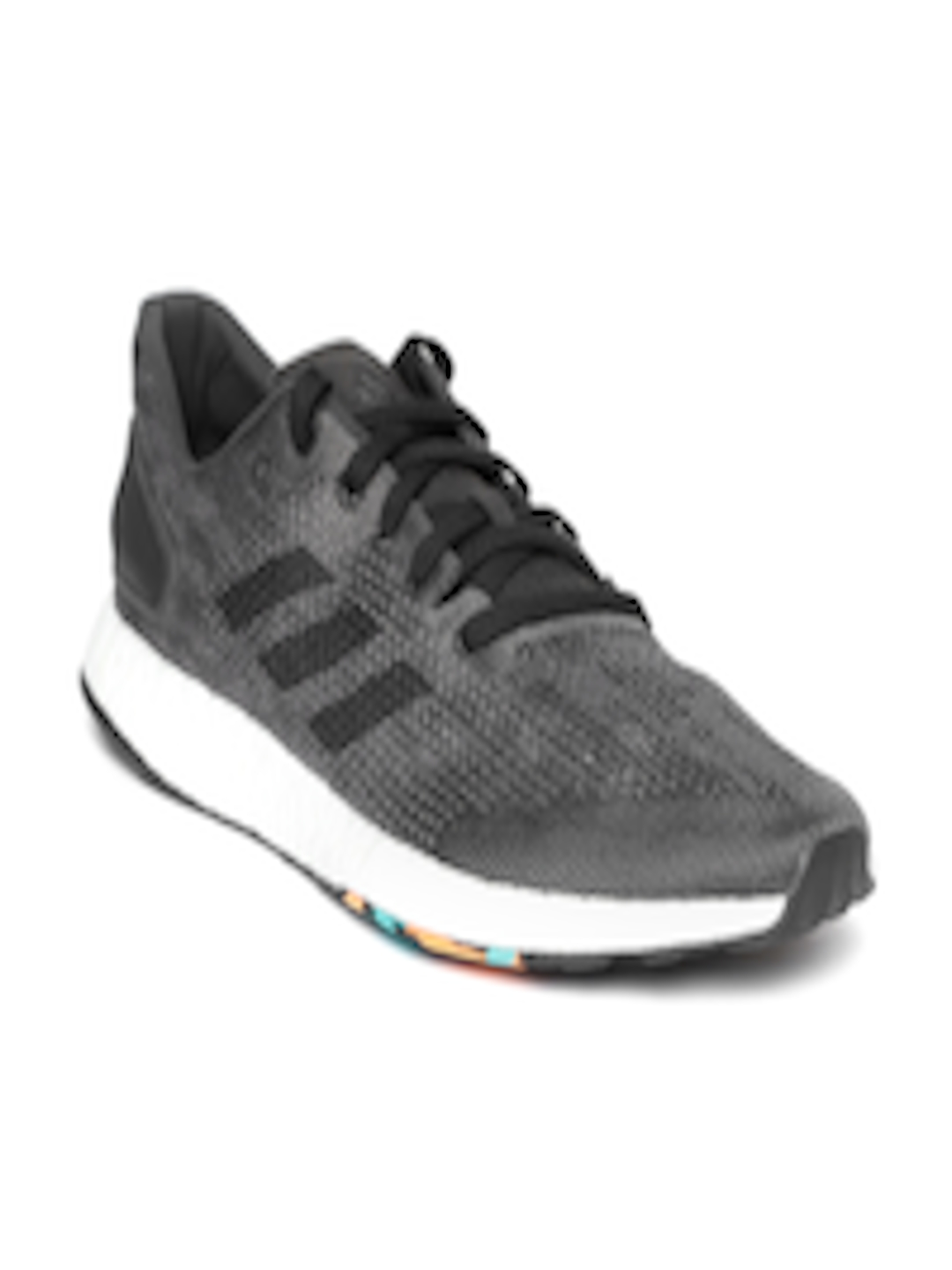 72407bd5a5a4dd Buy ADIDAS Men Charcoal Grey PureBoost DPR Running Shoes - Sports Shoes for  Men 6842080