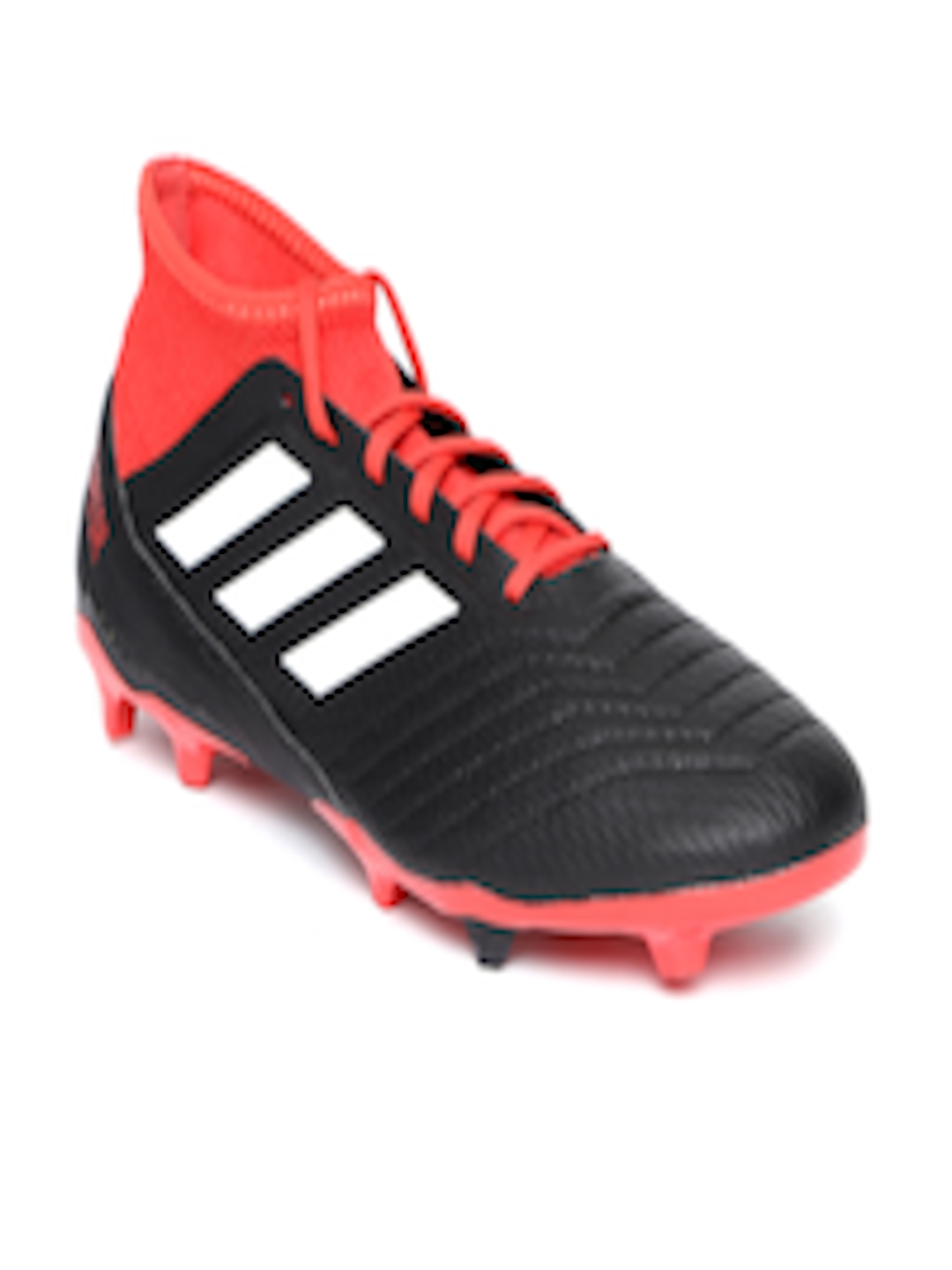 innovative design 4456f b97c6 Buy ADIDAS Men Black   Red Predator 18.3 Firm Ground Football Shoes -  Sports Shoes for Men 6842210   Myntra