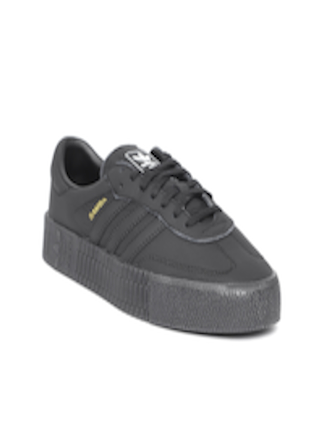 98cefb51a0b2 Buy Adidas Originals Women Black SAMBAROSE Leather Sneakers - Casual Shoes  for Women 6842290