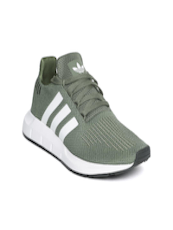 a211d45aac8e Adidas Originals Women Olive Green Swift Run Woven Design Sneakers