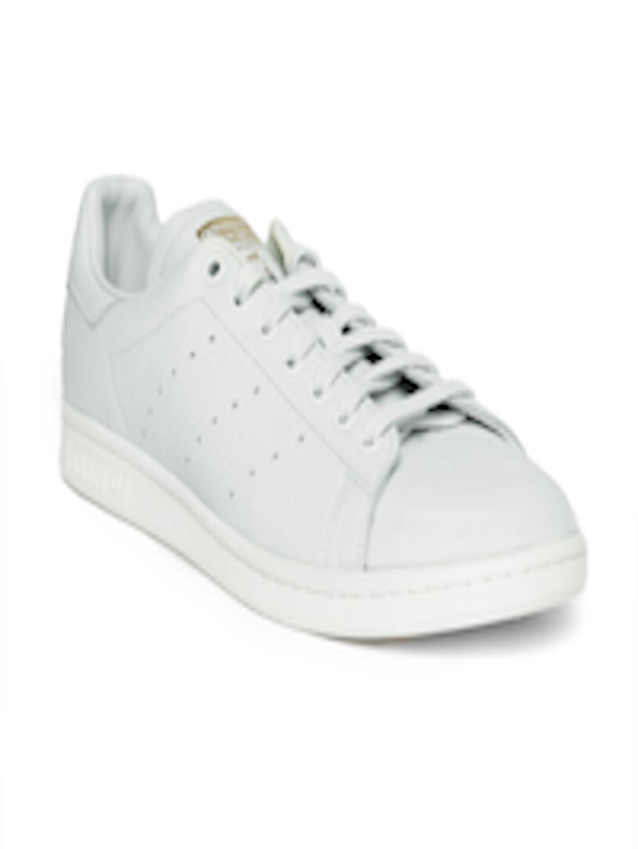 designer fashion cf3df 2e283 Buy ADIDAS Originals Men Grey Stan Smith Premium Sneakers - - Footwear for  Men