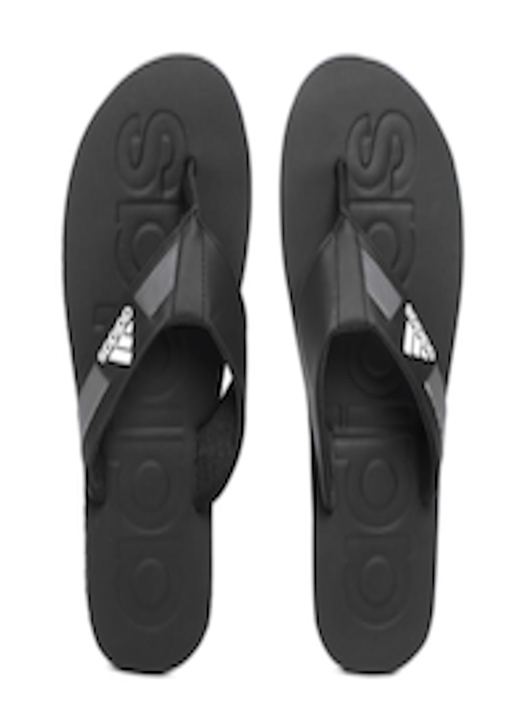 9a975e19bc0d Buy ADIDAS Men Black SLALON 2018 Solid Thong Flip Flops - Flip Flops ...