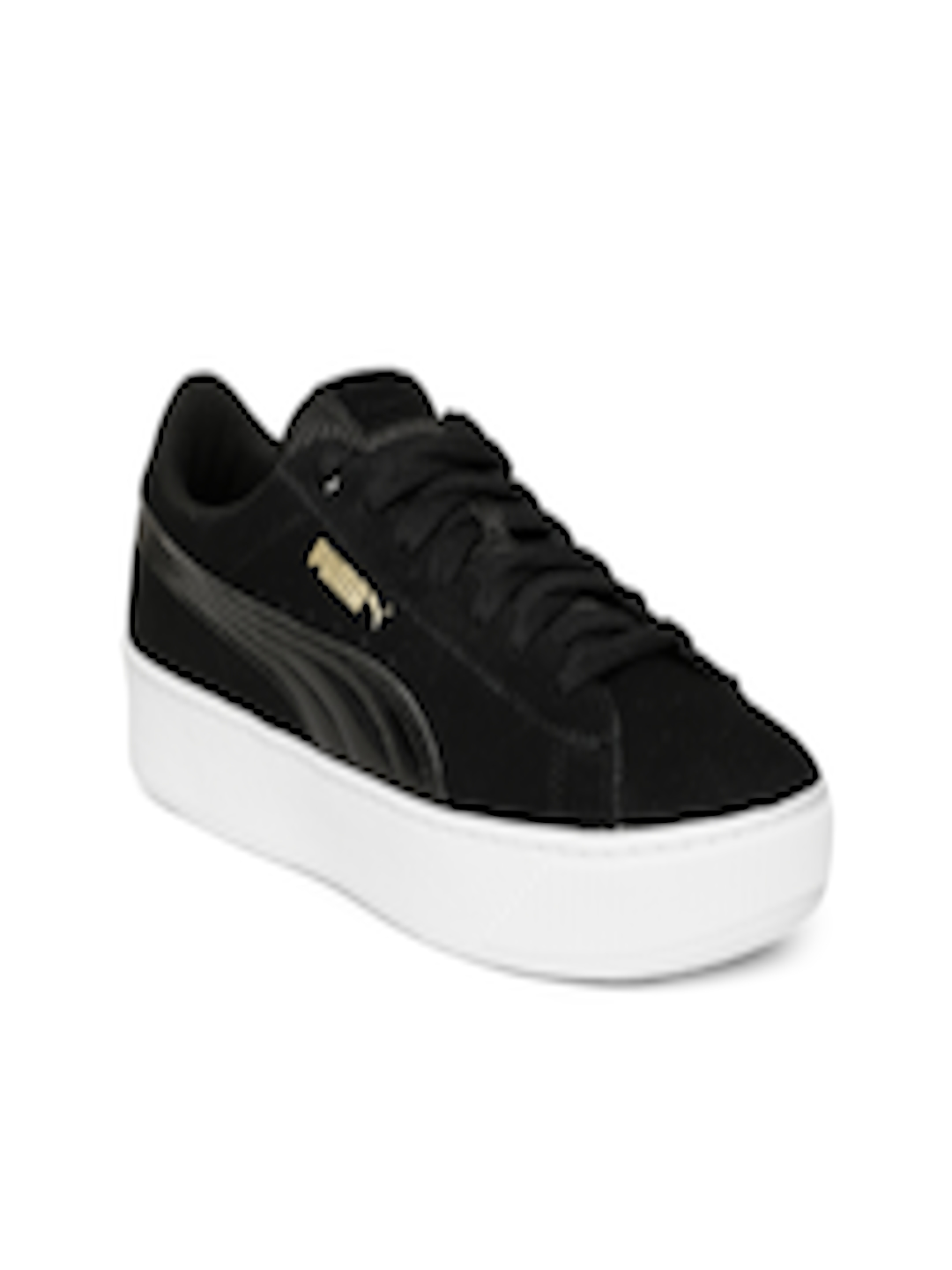 rozsądna cena sklep odebrać Buy Puma Women Black Vikky Platform Suede Sneakers - - Footwear for Women