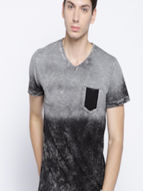 d118eeb51d87 Buy Octave Men Grey Dyed V Neck T Shirt - Tshirts for Men 6942267 | Myntra