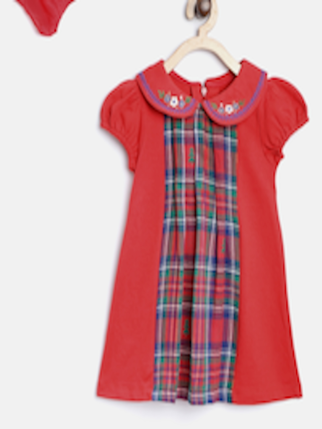 f2b7bb318ff Buy Nauti Nati Girls Red Checked A Line Dress - Dresses for Girls ...