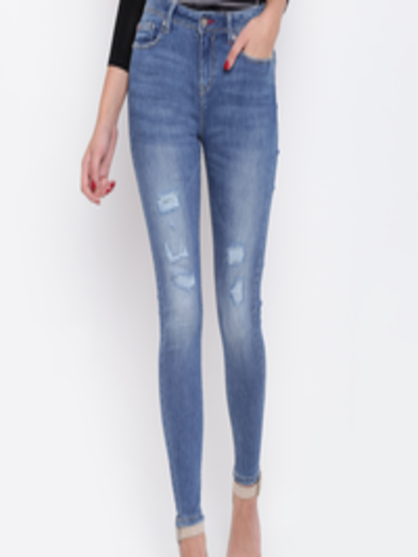 Lee Cooper Womens Jog Jeans Light Blue Size 8 Long