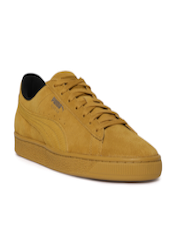 sports shoes cf4a8 ed9f6 Buy Puma Men Mustard Brown Suede Classic Tonal Nu Skool Sneakers - -  Footwear for Men