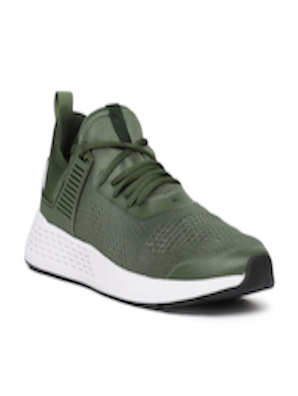 092414dc6d218 Buy Puma Men Olive Green Insurge Eng Mesh Sneakers - - Footwear for Men
