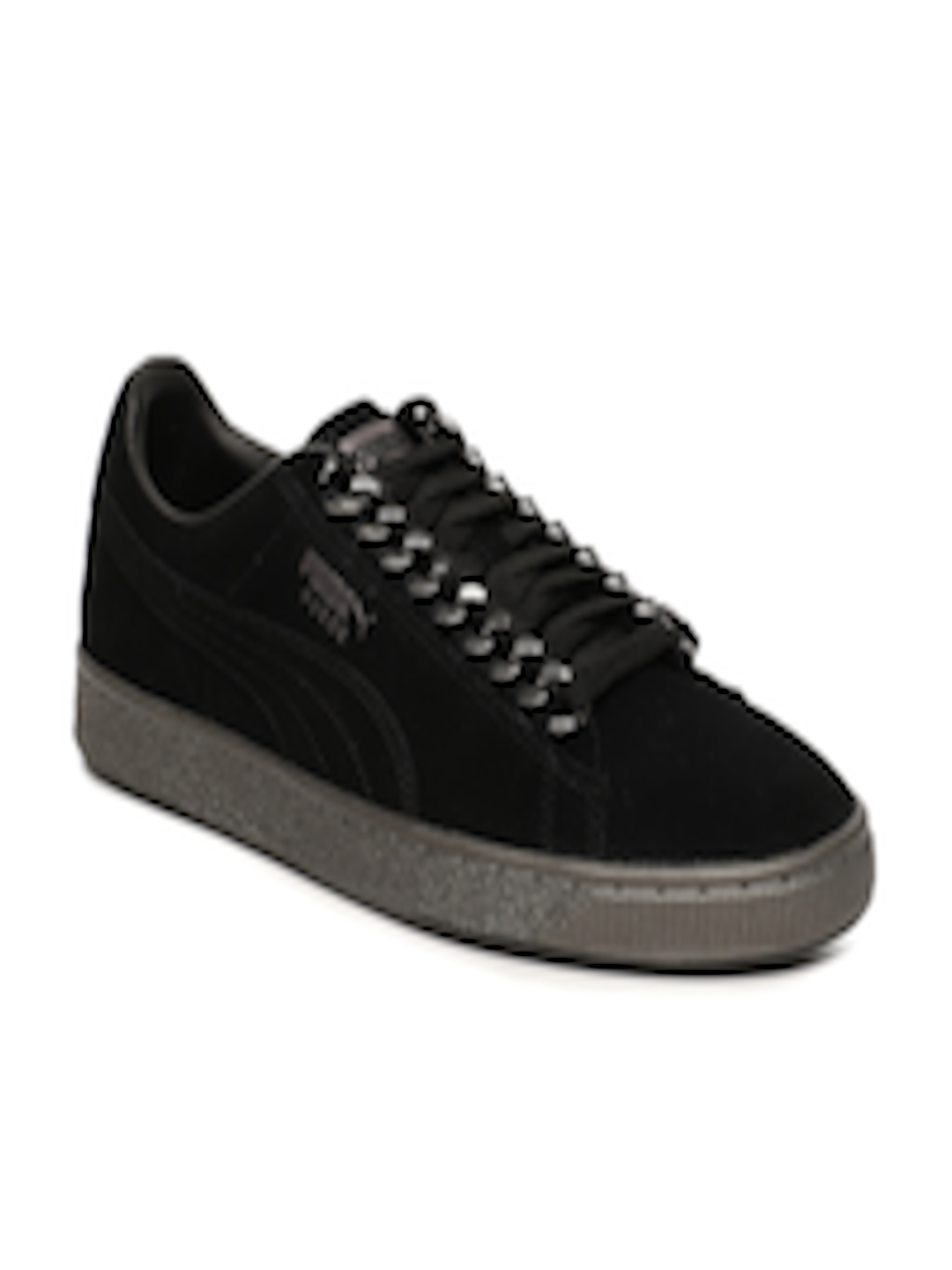 sports shoes f480a f5f24 Buy Puma Men Black Suede Classic X Chain Sneakers - - Footwear for Men