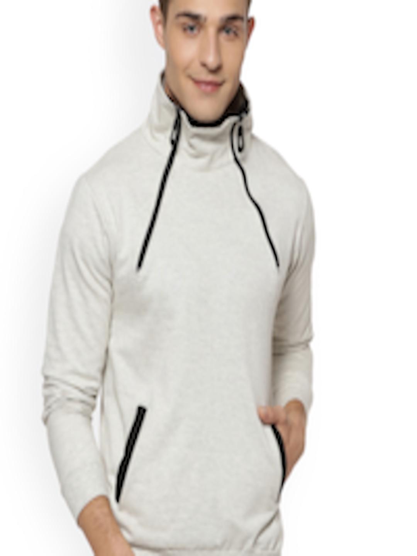 f657d6a7 Buy Campus Sutra Men Cream Coloured Solid Sweatshirt - Sweatshirts ...