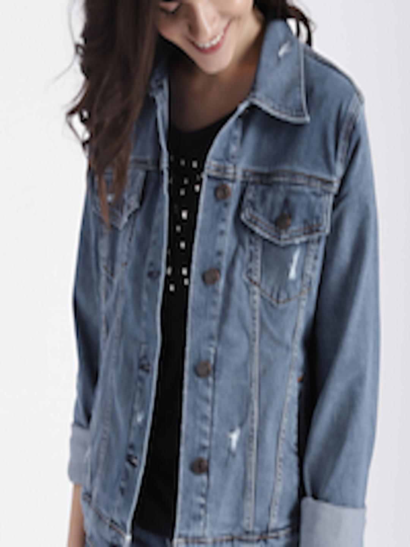 best quality fantastic savings offer discounts Buy GAP Women's Blue Soft Wear Icon Denim Jacket - Jackets for ...