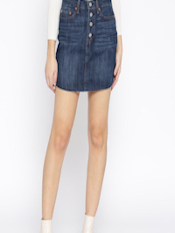 5b7985079 Buy GAP Blue Medium Wash Denim Skirt - Skirts for Women 7088454   Myntra