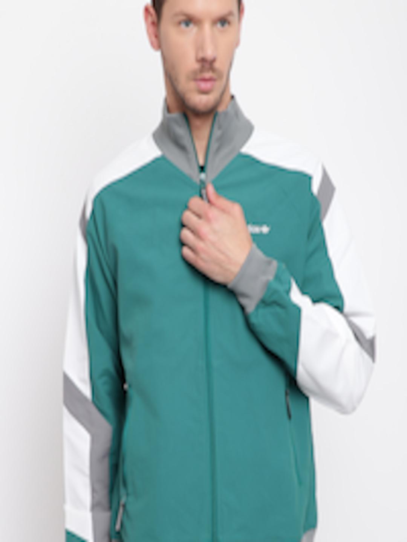 Buy ADIDAS Originals Men Green EQT Block Windbreak Solid Jacket Apparel for Men