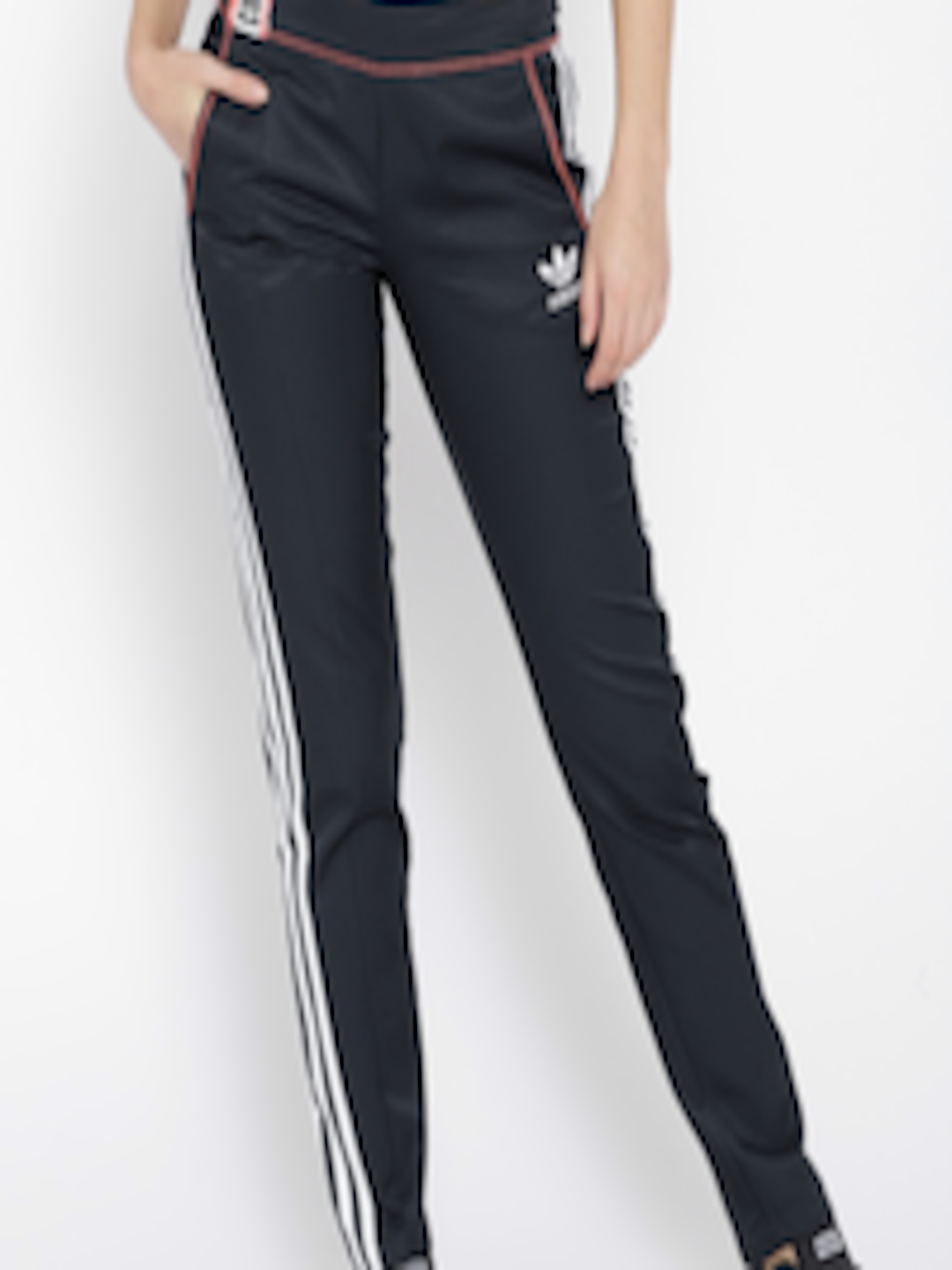Buy ADIDAS Women Navy Blue Solid Active Icons Track Pants Apparel for Women