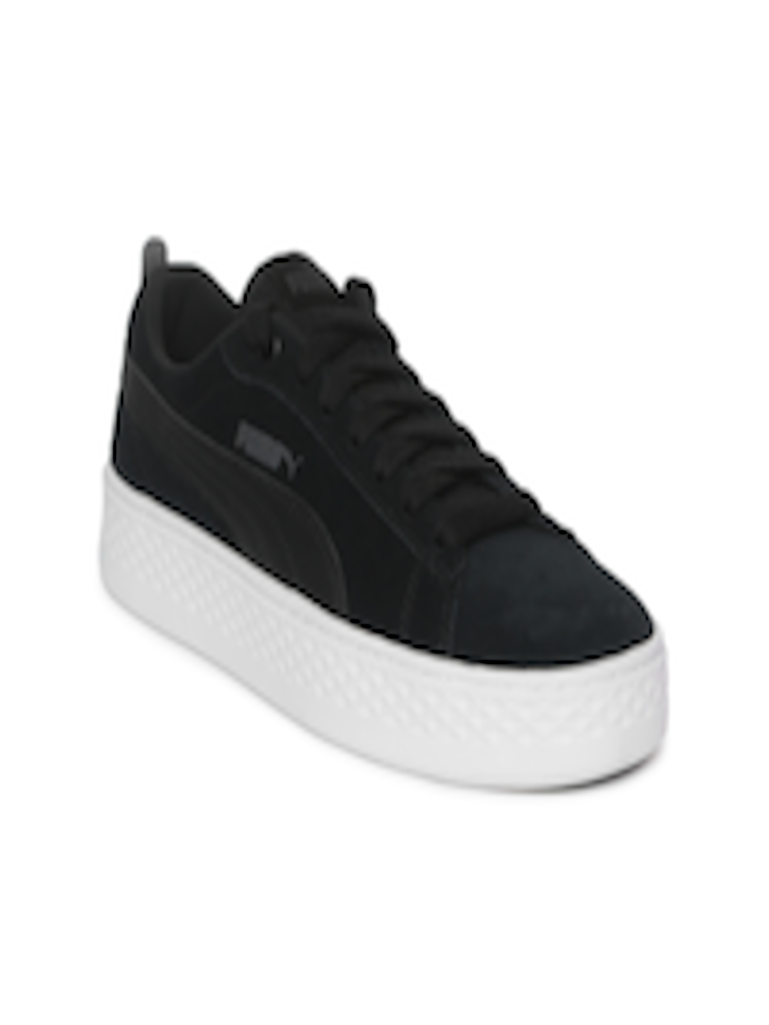 75fe421aed02 Buy Puma Women Black Smash Platform SD Suede Sneakers - Casual Shoes for  Women 7141669