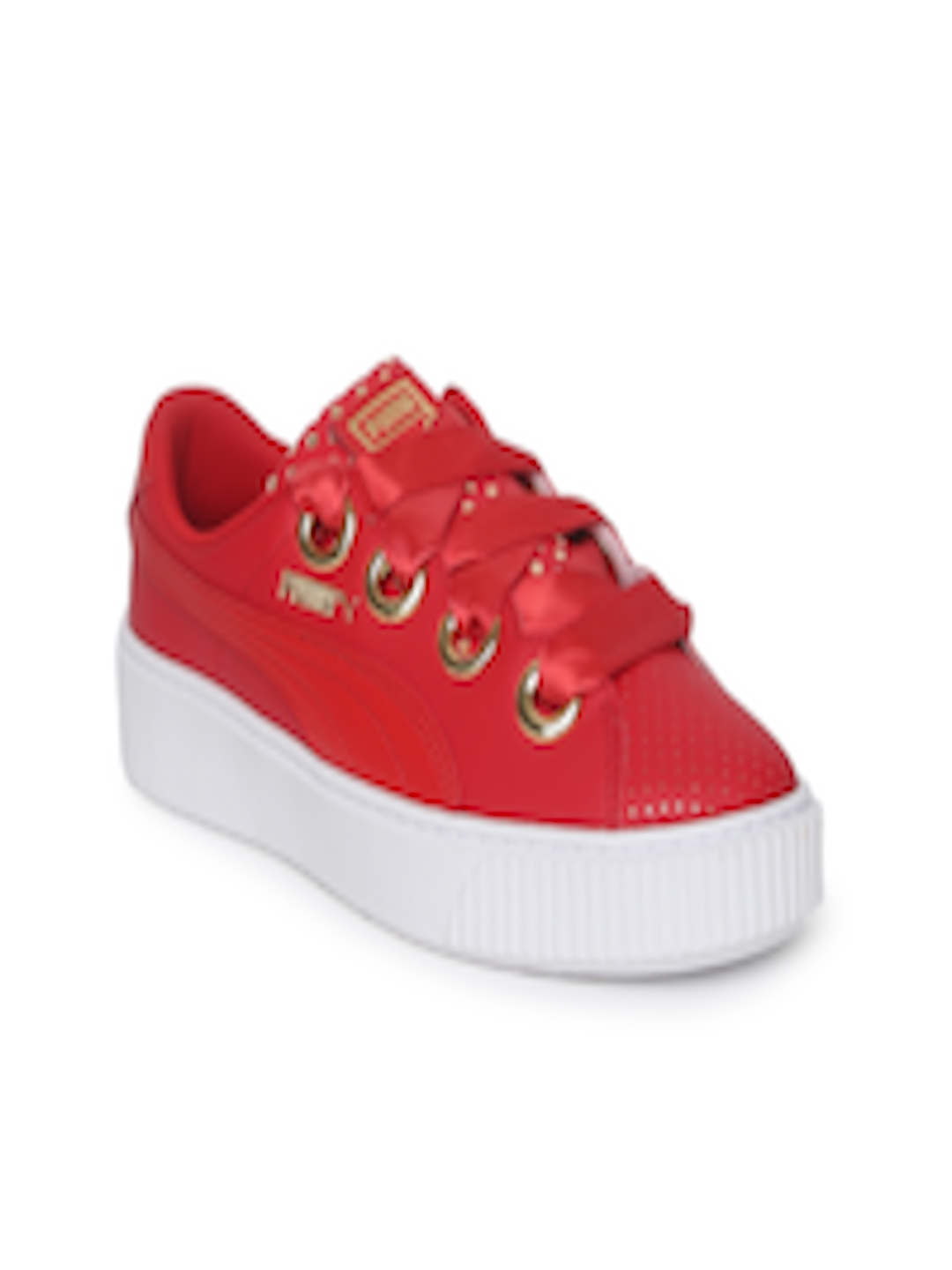 premium selection 3f52f e1413 Buy Puma Women Red Platform Kiss Ath Lux Sneakers - - Footwear for Women