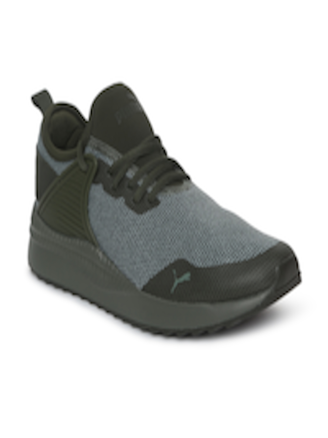 Buy Puma Kids Grey   Olive Green Colourblocked Pacer Next Cage Knitted  Sneakers - Casual Shoes for Unisex 7141701  9bdd9cd45