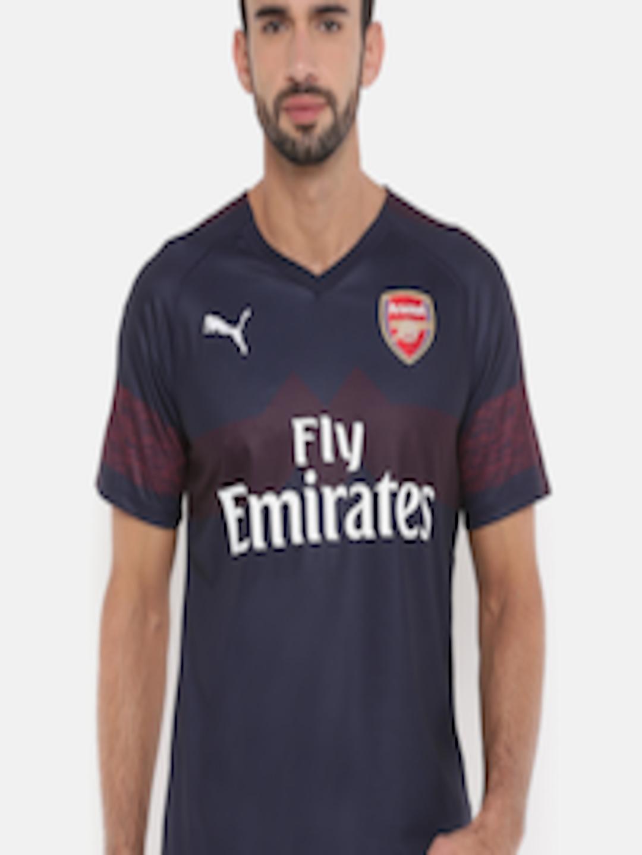 0e978ba9e Buy Puma Men Navy Blue Printed Arsenal FC AWAY Replica SSwith EPL Sponsor  Logo DryCELL T Shirt - Tshirts for Men 7145817