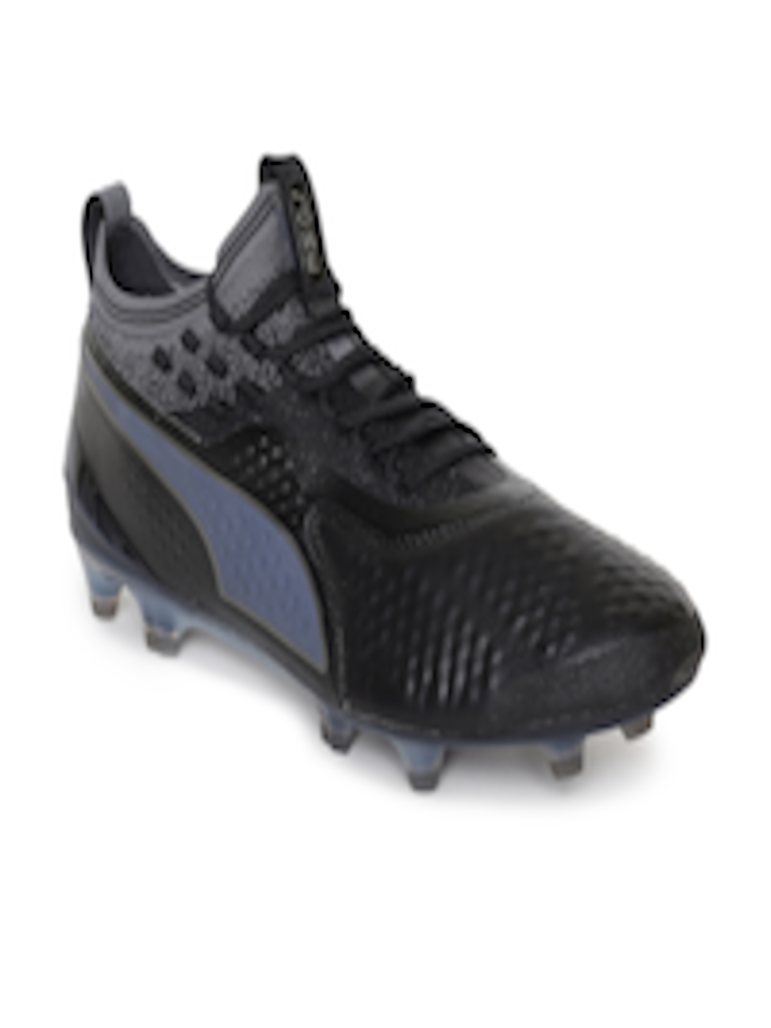 2160280ae3d9 Buy Puma Men Black Solid PUMA ONE 1 Lth FG AG Leather Football Shoes -  Sports Shoes for Men 7188752