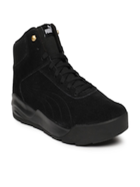 Buy Puma Men Black Desierto Suede Mid Top Sneakers - Casual Shoes for Men  7188900  640c46731