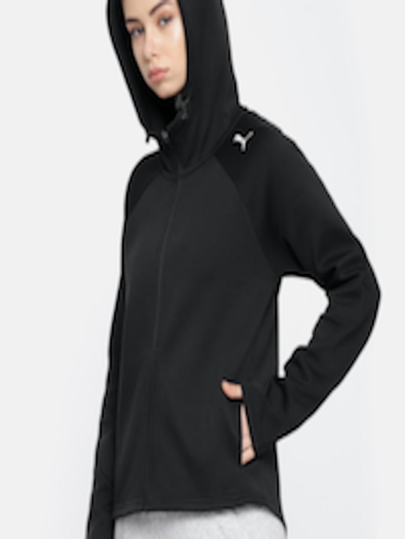 1fac0956 Buy Puma Women Black Evostripe Core FZ Hooded Jacket - - Apparel for Women