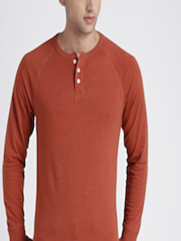 76abb5a4 Buy GAP Men's Long Sleeve Marled Henley - Tshirts for Men 7226508 | Myntra