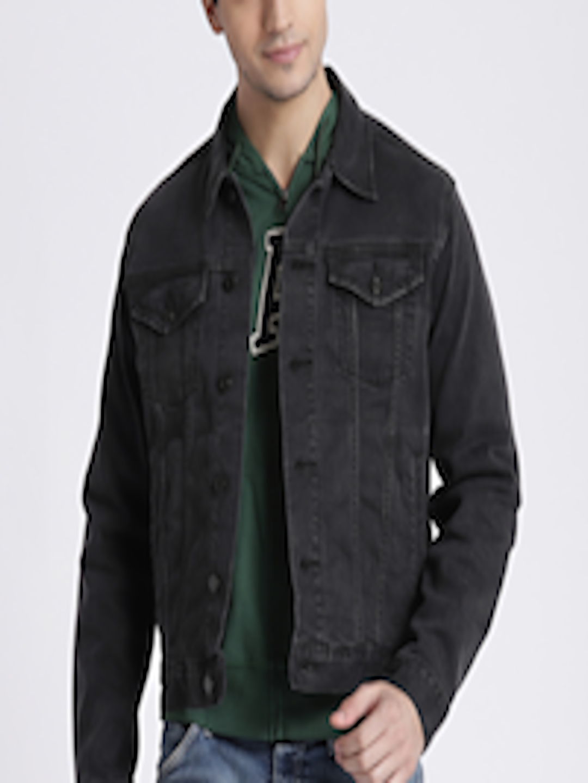 sports shoes offer discounts 2018 shoes Buy GAP Men's Black Soft Wear Icon Denim Jacket - Jackets for Men ...