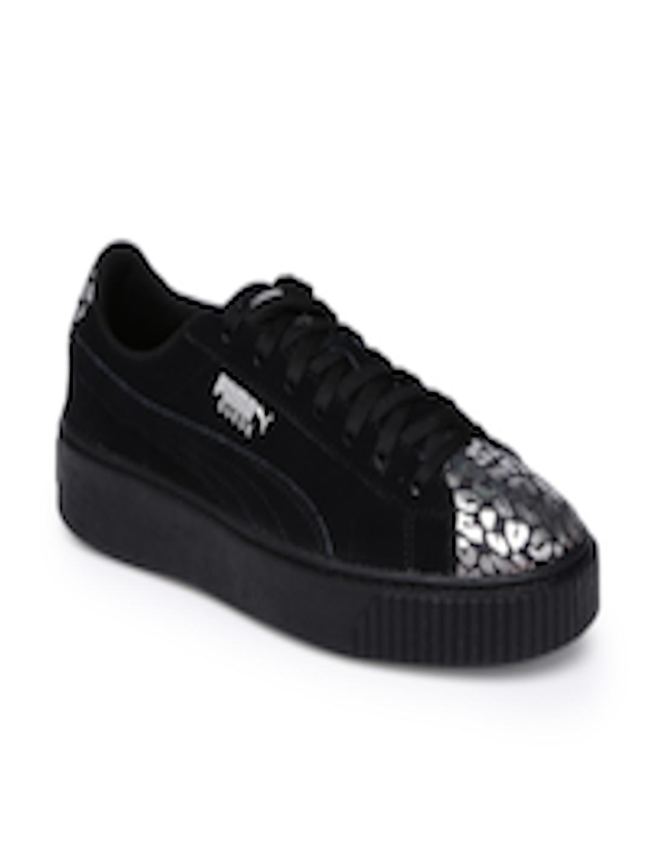 e235f8cc941 Buy Puma Girls Black Suede Platform AthLuxe Suede Junior Sneakers - Casual  Shoes for Girls 7252547