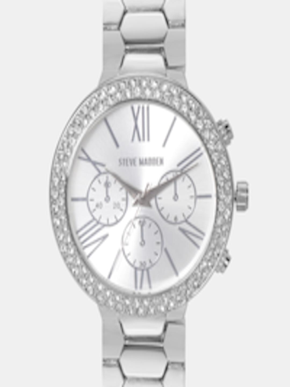 b6721c3dd3e Buy Steve Madden Women Silver Toned Analogue Watch SMW180 - - Accessories  for Women