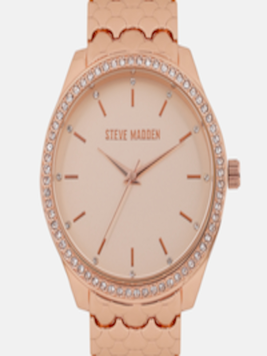 c82a234e3ea Buy Steve Madden Women Rose Gold Embellished Analogue Watch SMW170Q - -  Accessories for Women