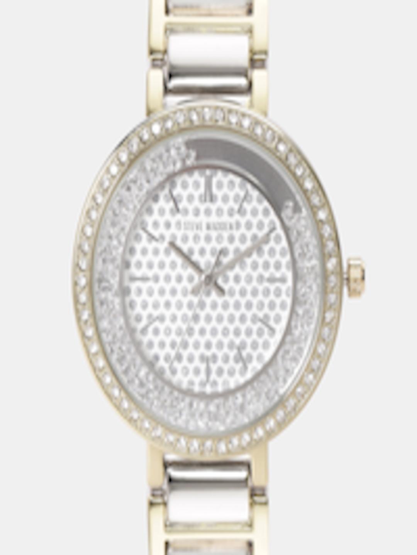 de4ebb82b5c Buy Steve Madden Women Silver Toned Analogue Watch SMW115TG - - Accessories  for Women