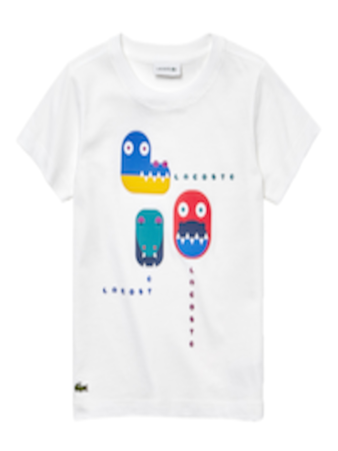 bf017c2a55 Buy Lacoste Boys White Printed Round Neck T Shirt - - Apparel for Boys