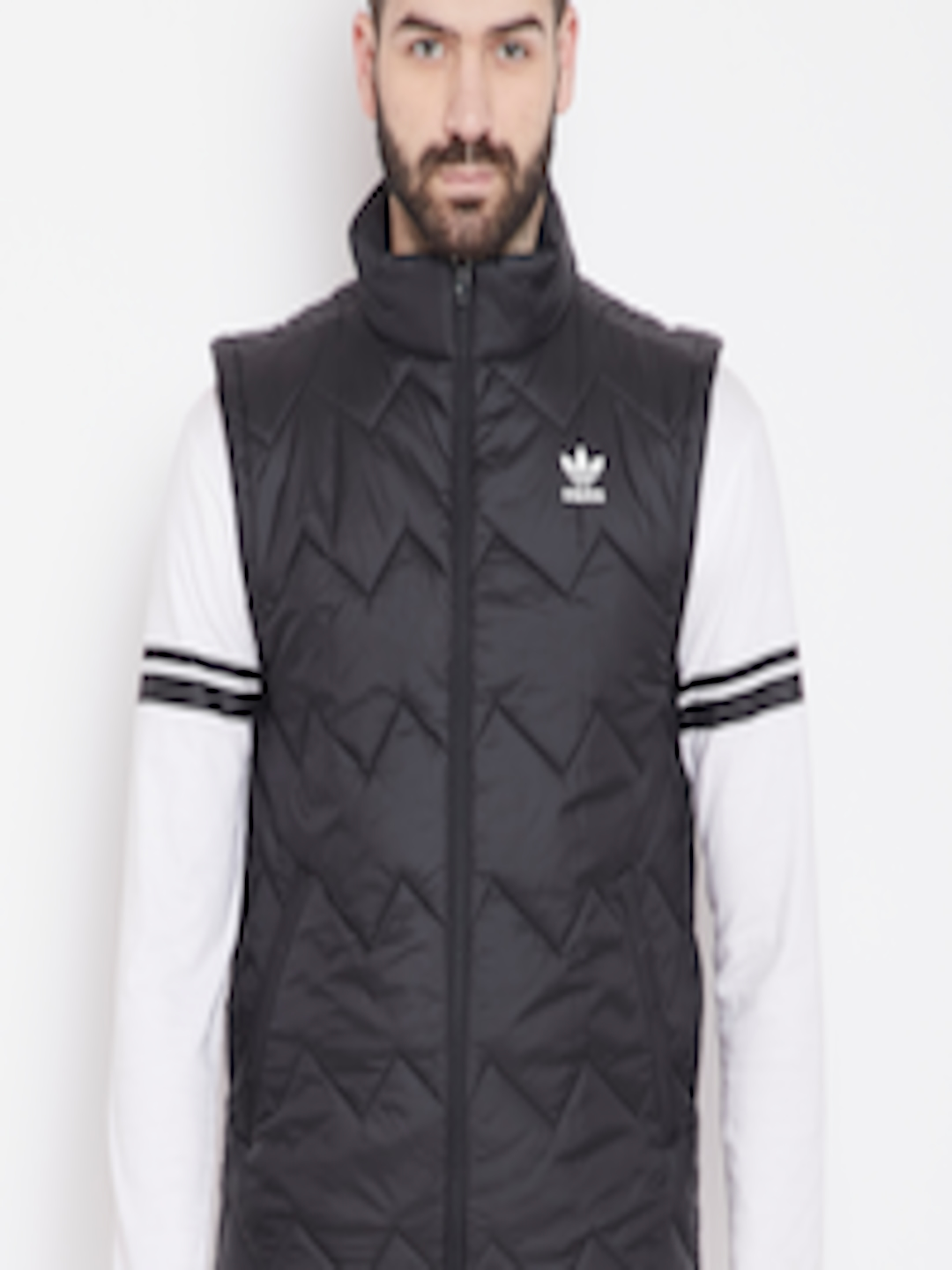 eb5e29f40 Buy ADIDAS Originals Men Black SST Solid Sleeveless Puffer Jacket - -  Apparel for Men