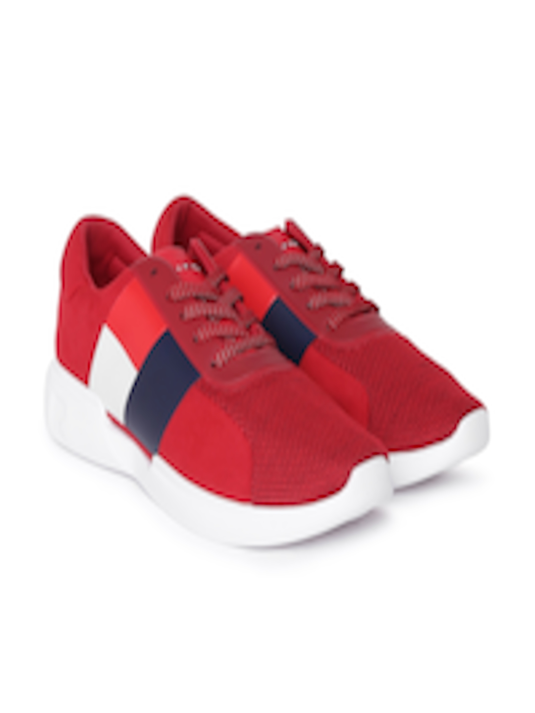 8abd4b0555f1e7 Buy Tommy Hilfiger Men Red Sneakers - Casual Shoes for Men 7419632 ...