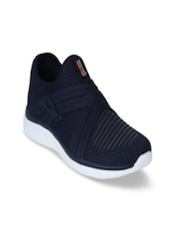 Men Navy Blue Walking Shoes