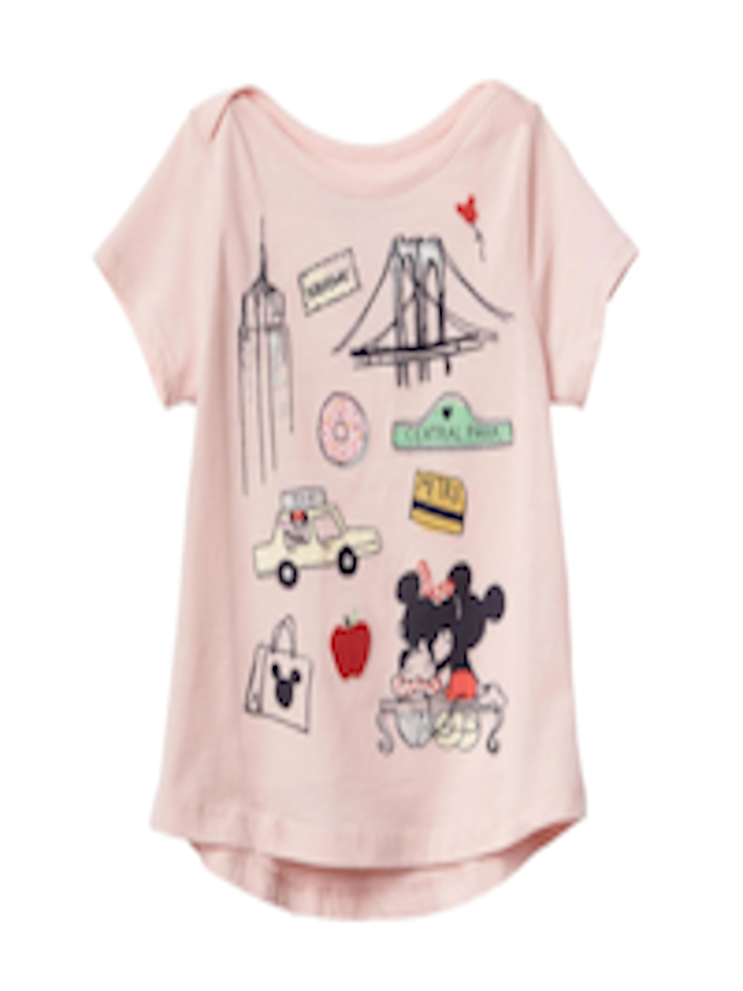e8d92a5bb0acb Buy GAP Toddler Girl Pink Babygap | Disney Baby Mickey Mouse And Minnie  Mouse Hi Lo T Shirt - - Apparel for Girls